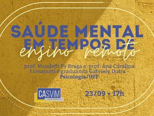 EVENTO: Saúde Mental em Tempos de Ensino Remoto