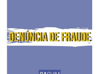 Formulário para denúncia de fraudes de cotas