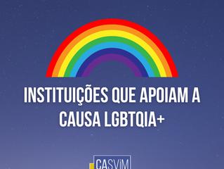 Instituições que apoiam a causa LGBTQIA+