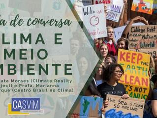 Roda de Conversa: Clima e Meio Ambiente