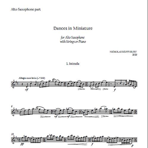 Dances in Miniature Alto Saxophone part