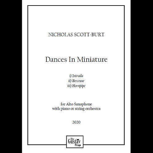 Dances In Miniature piano score
