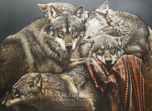 Wolf Pack Full painting 1 Small WM.jpg