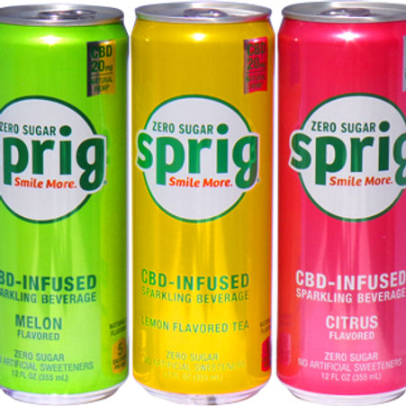 6 pack - Sprig CBD sugar free Soda