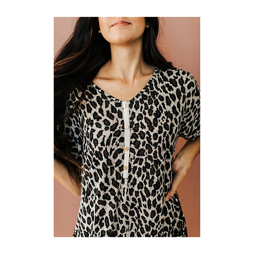 Leopard Print House Dress