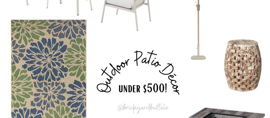 Outdoor Patio and Décor Under $500