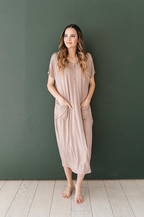Taupe House Dress