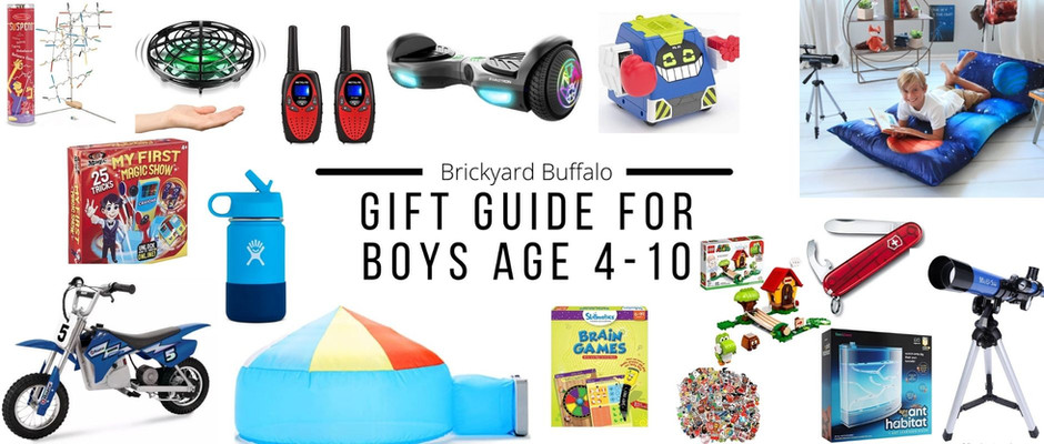 Gift Guide for Boys Age 4-10