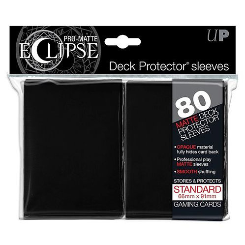 Ultra Pro Matte Eclipse - Black 80 Count