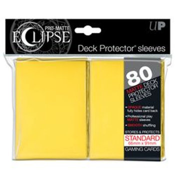 Ultra Pro Matte Eclipse - Yellow 80 Count