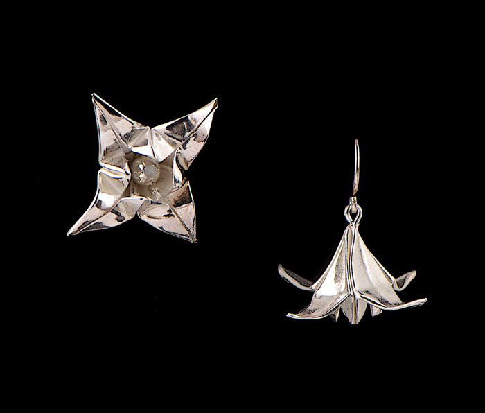 Silver Lily Earrings