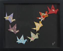 Multiple Cranes Shadowbox
