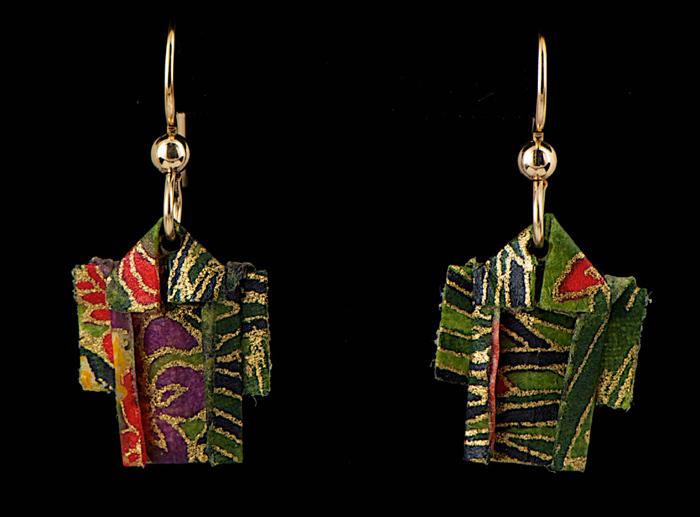 paper kimono earrings