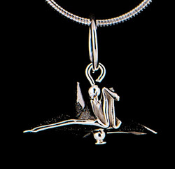 Silver Tiny Bird Pendant