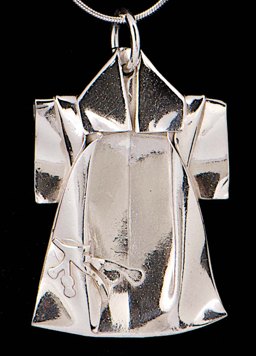 Silver Kimono Pendant