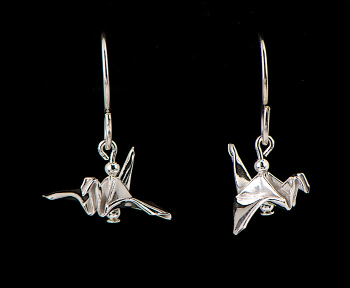 Silver Tiny Bird Earrings