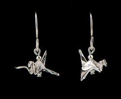 Silver Tiny Bird Earrings