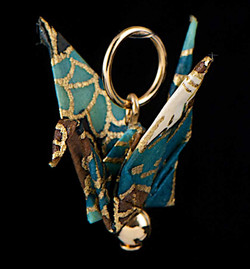paper crane pendant