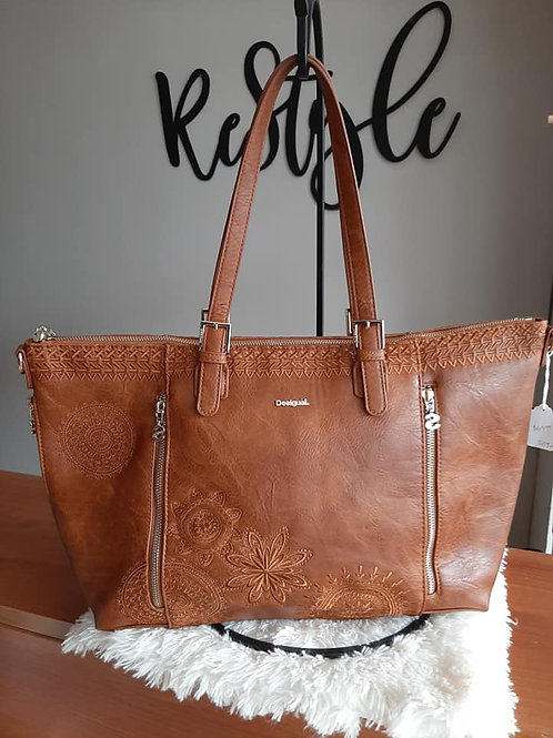 Desigual Brown Leather Bag