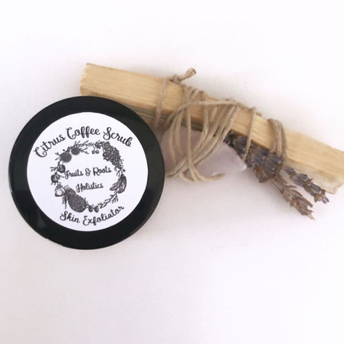 Fruits & Roots Holistics- Citrus Coffee Scrub - Face & Body Exfoliator