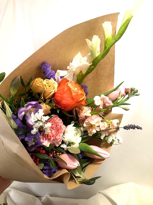 Fresh Market Bouquet- * pre order* for Valentine's Day - Snowberry Botanicals