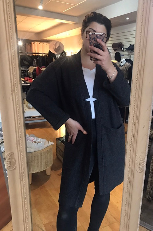 Eve Gravel Cardigan - Size