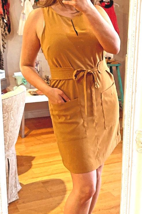 Joie Mustard Dress - Size 8