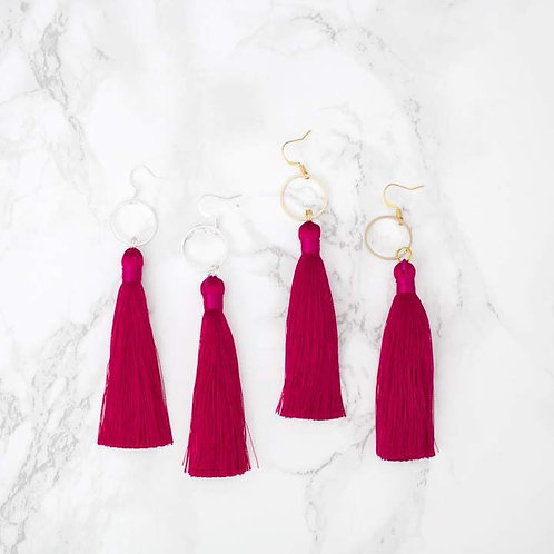 Silk Tassel Earrings Jewelry