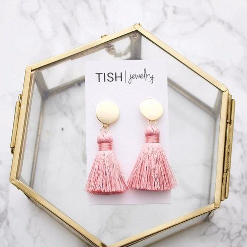 Short Silk Tassel Earrings - Tish Jewelry