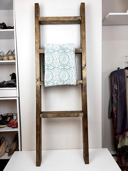 Wooden Blanket Ladder 5 feet tall - Vintage Twine