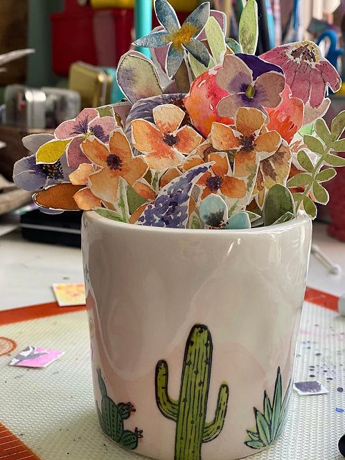 'On Point' Pot with Plant