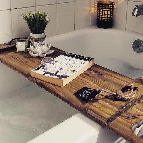 Bath Tray with Towel Holder