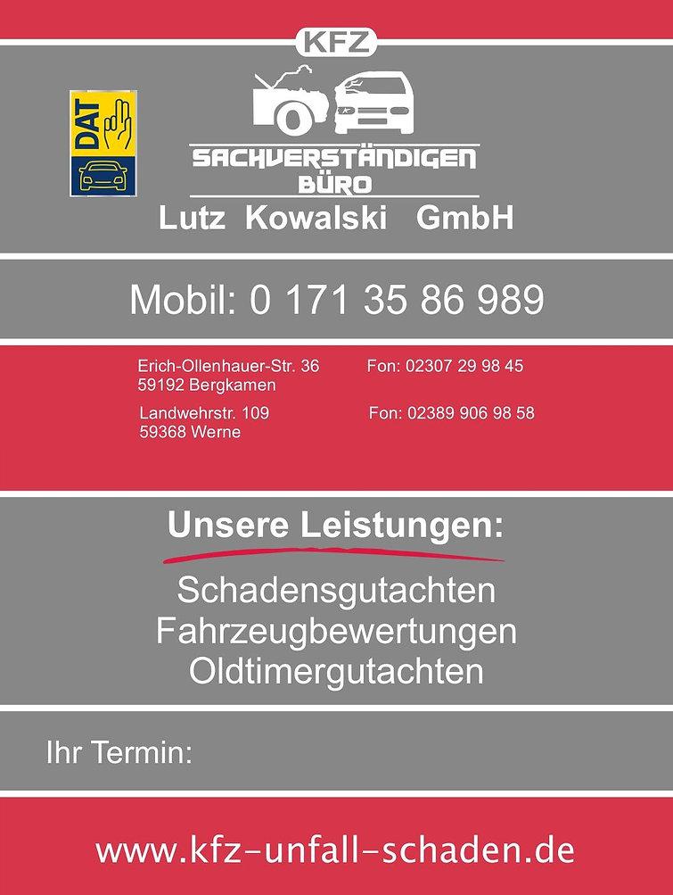 Visitenkarte Kowalski GmbH