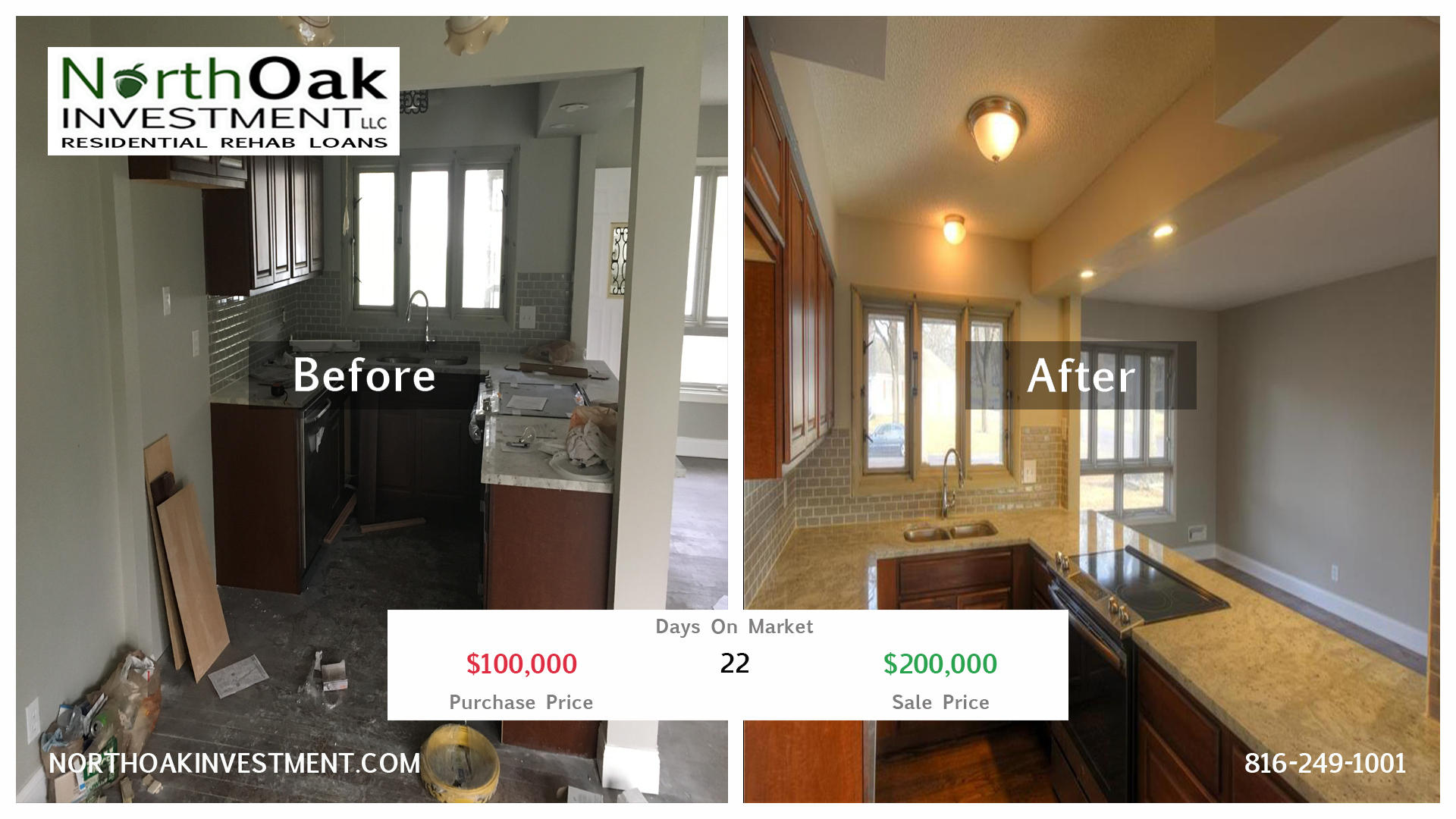9103 W 98th Terr - Report Card - Kitchen - North Oak Investment Rehab Lender Kansas City Flip Fundin