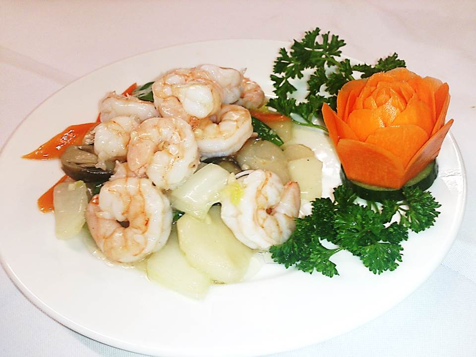 62.King Prawns with Mixed Vegetables
