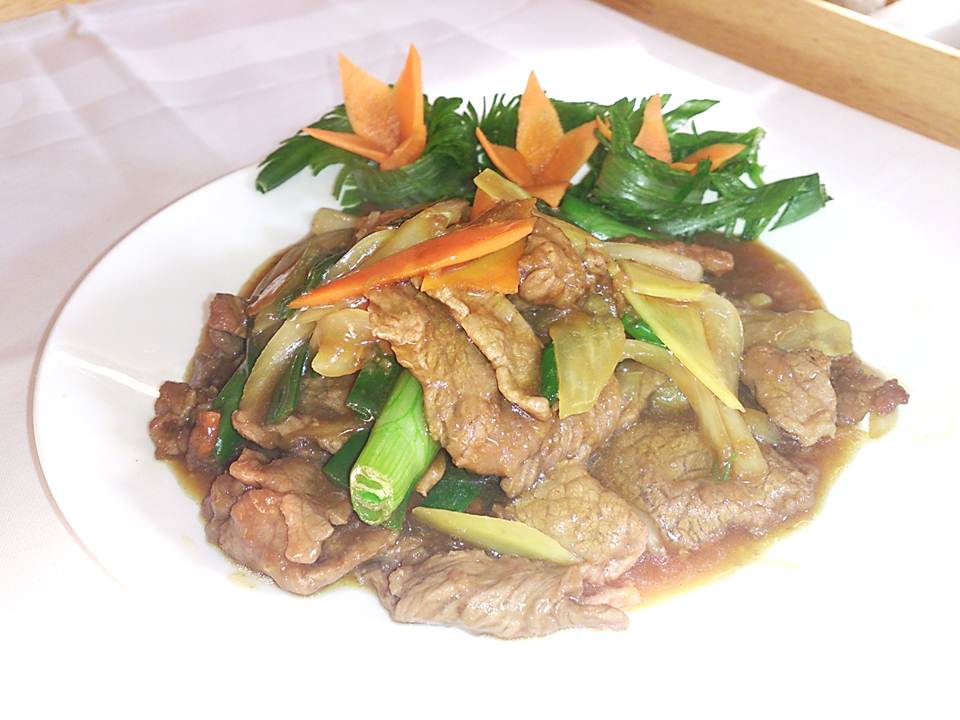 85. Lamb with Ginger and Spring Onions