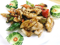 Chicken with Peppers in Black Bean Sauces