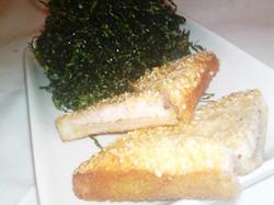 Sesame Prawn Toast and Seaweed
