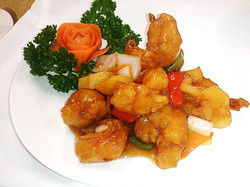 91. Sweet and Sour King Prawn