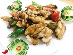 76. Chicken in Black Bean Sauce