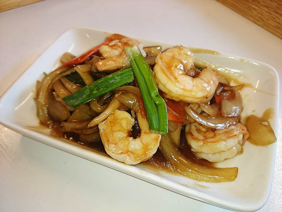 56G. Prawns with ginger and onions