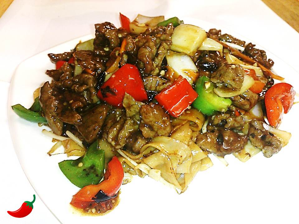 132. Beef Ho Fun in Black Bean Sauce