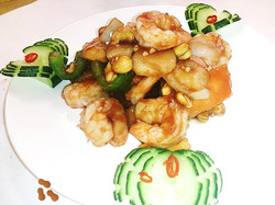 58A. King Prawns with Cashew Nuts in Yellow Bean Sauce