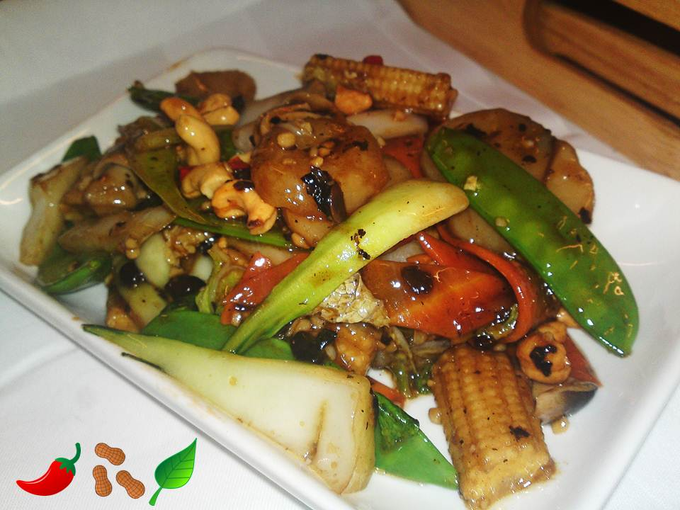 110. Mixed Vegetable in Black Bean Sauce with Cashew Nuts