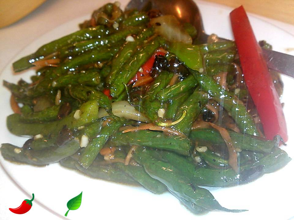 327. French Beans in Black Bean Sauce