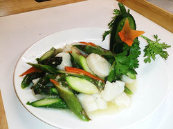 315. Scallops with Asparagus