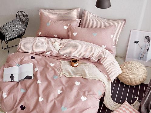 Κουβερλί Cosy Pink Hearts