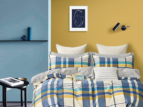Σεντόνια Cosy Blue Stripes
