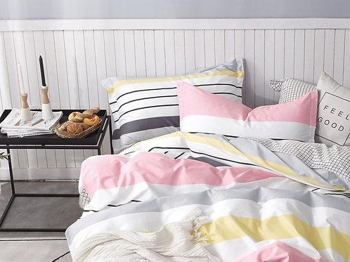 Κουβερλί Cosy  Stripes Pink