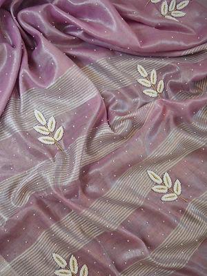 Tissue Sarees - Pure Silk Indian Handloo
